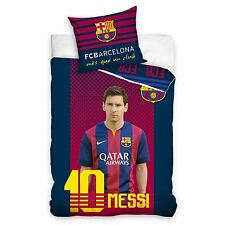FC Barcelona Messi singolo Copripiumino Federa Set 100% Ufficiale Nuovo Biancheria Da Letto
