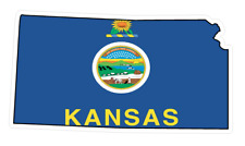 Kansas State (Q17) Shape Flag Vinyl Decal Sticker Car/Truck Laptop/Netbook