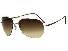 Silhouette small Aviator Sunglasses Adventurer Taupe Matte /brown grad 8142-6236