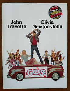 Grease Original Movie Program - With Record Travolta Olivia Newton-John - 1978