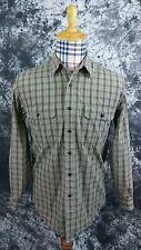 Mens L.L. Bean small textured button front shirt