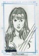 Xena Art & Images Sketch Card by Eduardo Pansica Xena Sword Across Chest