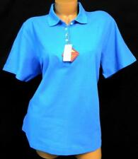 ef515e45 Outer banks light blue plus size short sleeve button cleavage polo shirt XL