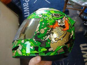 Motorcycle Helmet Icon Leprechaun L 58-60 **used**