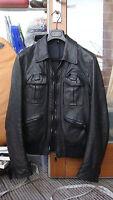 DIOR HOMME by Hedi Slimane black leather jacket 2006 size 44 06 A2 bomber