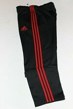 Boy's new Adidas Track Sweat Pants vintage Large 26 x 29 inseam S black Red