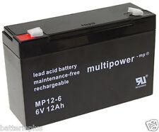 MULTIPOWER 6v/12ah piombo-batteria mp12-6 - gruppo di continuità np12-6   lc-r0612p1   np12-6t