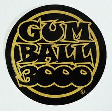 Gumball 3000 International Celebrity Rally Race Round Gold Promotional Sticker