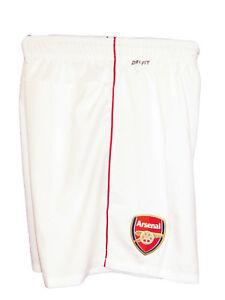 New NIKE ARSENAL Football Shorts Home White XL