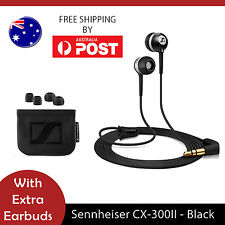 Sennheiser CX 300 II Precision In-Ear only Headphones - Black - AUS Seller