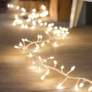 Micro Rice Bulbs 120LED 2m String Fairy Light Wire In/Outdoor Flash Christmas UK