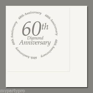 60th ANNIVERSARY LUNCHEON NAPKINS Party Supplies FREE SHIPPING