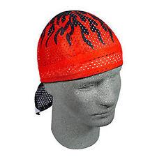 Zan Headgear Flydanna Bandana Do Rag Headwrap Vented Red Flames