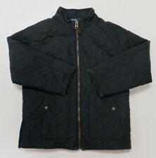 Polo Ralph Lauren Equestrian Quilted Jacket Black Womens Sz 6