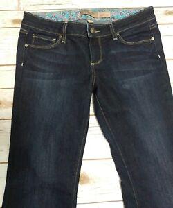 Paige Petite Laurel Canyon Women's Size 29 Dark Wash Bootcut Low Rise Blue Jeans