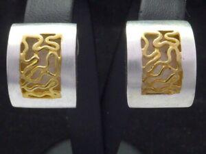 NEU Ohrringe 925 Sterling SILBER silver earrings Ohrstecker argent Art Deco