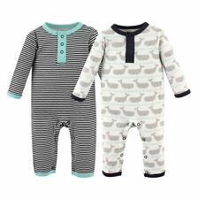 Hudson Baby Boy Coveralls 2-Pack, Whale