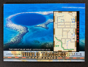 2018 Goodwin Champions The Great Blue Hole Belize World Traveler Map Relics