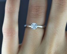 $4,800 The Leo Diamond 14K White Gold Platinum 0.68ct Round Engagement Ring 5.5