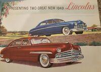 VINTAGE 1949 LINCOLN ADVERTISEMENT DEALERSHIP MANUEL