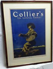 """Framed Maxfield Parrish Collier's Magazine Cover """"The Artist"""" dated May 1, 1909"""