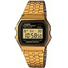 Casio Classic Unisex Retro Stainless Steel Gold LCD Digital Watch A159wgea-1ef