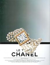 ▬► PUBLICITE ADVERTISING AD MONTRE WATCH Le temps CHANEL 1992