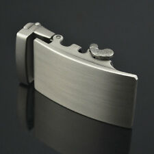Automatic Buckle for 3.6cm Belt Silver Tone Smooth Plain Plate