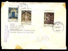 Jugoslavia 1980 COVER registrata in Germania #C 7125
