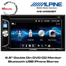 "Alpine IVE-W560BT - 6.2"" Doble Din Monitor DVD CD Bluetooth USB iPhone Estéreo"