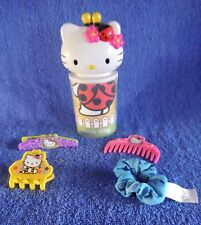 *1721c*   Hello Kitty hair pieces and container - 16cm - Sanrio - plush