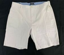 NWT Nautica Men's Size 40 A Bit Trimmer Fit Lilac Seersucker Flat Front Shorts