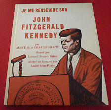 Hard Cover French Book Je Me Renseigne sur John Fitzgerald Kennedy