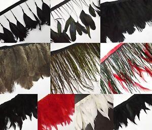 (Yd) Designer Feather Fringe Trim Ribbon Craft for Facinator Wedding Show Dress