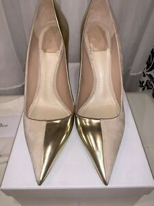 Dior Two Toned Nude/Gold Profil Pumps