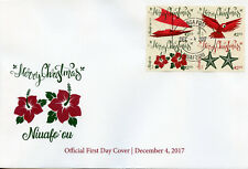 Niuafo'ou 2017 FDC Christmas Parrots Birds Boats Flowers 4v Block Cover Stamps