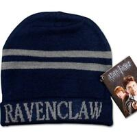 Harry Potter Ravenclaw Stripes Knit Beanie Hat Cap Deathly Hallows Costume