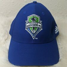 ADIDAS Seattle Sounders FC MLS Embroidered Logo Hat Strapback Cap Blue