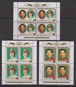 1982 Royal Birth Prince William MNH Stamps Aitutaki Sheets Optd SG 394-396