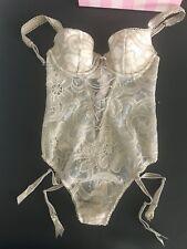 NWOT Victoria's Secret  Corset Bustier Garter Bodysuit Size 34B