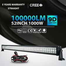 "1000W 52""INCH LED LIGHT BAR SPOT FLOOD DRIVING OFFROAD BOAT SUV ATV UTE 4X4 50"
