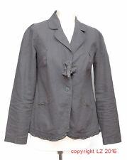 L293/04 Terre de Marins romantique femme lin/coton gris veste, UK 8 Euro 36