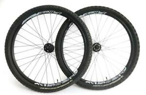 "Alex Rims / Shimano XT 26"" MTB Bike Wheelset 8-11s + Tires QR Disc New Blemished"