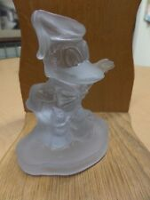 Awesome Vintage Disney W.D. Productions Donald Duck Frosted Glass Figurine