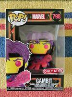Funko Pop! Marvel X-Men Classic Gambit Blacklight Target Exclusive #798 In Hand!