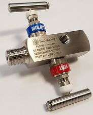 "Budenberg 2-Way Manifold : 1/2""NPT MxF 2-Way Manifold"