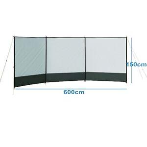 Windbreaker Sichtschutz 600 x 150 cm Windschutz Camping Paravent  NEU #8320