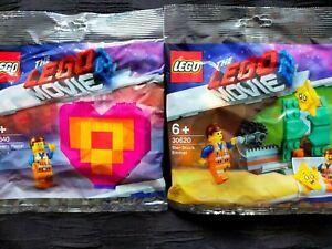 Lego Movie 2.Star-Stuck Emmet 30620 & Emmets Peice Offering 30340 Polybags BNIP