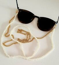 Gold Double Pearl Chain Sunglasses Chain Other Bloggers Stories Mango