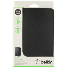 iPad Mini 2 3 4 Belkin Smooth Bi-Fold Folio Case Sleeve Cover Stand Strap BLACK